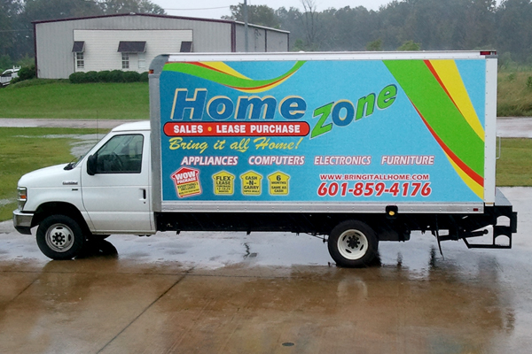 Full color printed vinyl wrapped vehicle